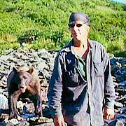 Timothy Treadwell with Predator